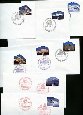 LOT 78048  CANADA 1960a-h : 8 SIZE 8 UNADDRESSED  COVERS MOUNTAINS