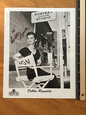 Debbie Reynolds Hand Signed Autograph -A Collectors Must Have