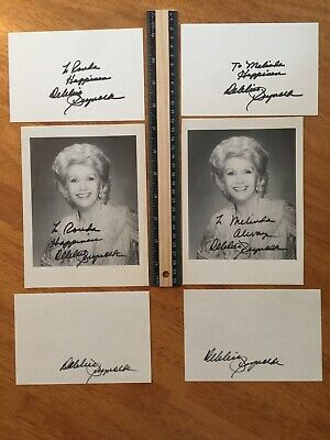 6 Debbie Reynolds Hand Signed Autograph -A Collectors Must Have