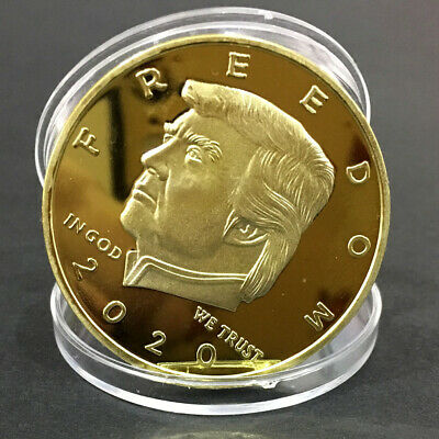 Donald Trump 2020 Freedom Commemorative Challenge Coin Guns Coins 1x