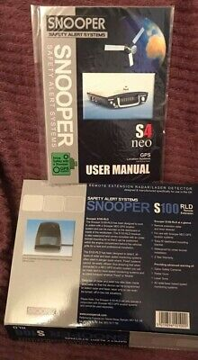 Snooper S4 neo GPS Location System SPEED CAMERA DETECTOR & Free rs232 USB lead