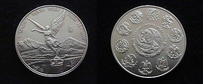 Mexique: SPLENDIDE  1 ONCE LIBERTAD 2008  en ARGENT...Rare...(Paypal possible)