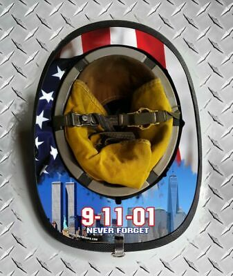 911 Towers then and now Fire helmet wrap