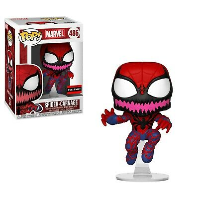 Flawed Box Funko Pop! Marvel Spider-Man Spider-Carnage #486 AAA Anime Exclusive