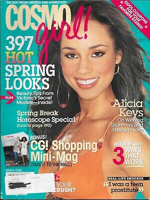 Cosmo Girl Magazine-Alicia Keys On The Cover-March 2006-Free Shipping In Canada