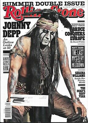 Rolling Stone Magazine-Johnny Depp Cover-July 2013-Free Shipping In Canada