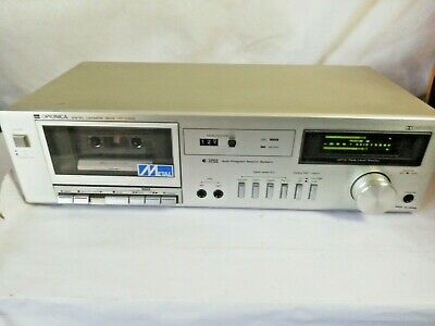 Vintage Sharp Optonica Single cassette Deck RT 3300 Silver Tested