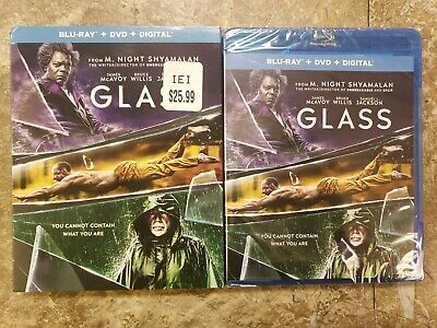 Glass (Blu-ray + DVD + Digital; 2018) Brand New Sealed With Slipcover