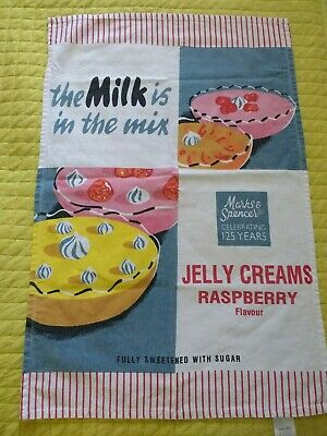 MARKS & SPENCER 125 Years 'the milk is in the mix' Commemorative tea towel