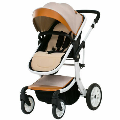 Baby Stroller Foldable Jogger Carriage Infant Travel System Pushchair Khaki