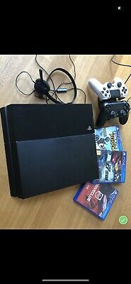 Sony PlayStation 4 500GB Console - Black With 2 controls and 3 games
