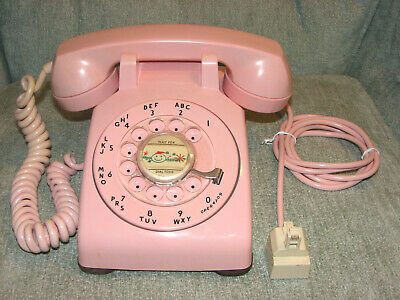 Vintage Rose Pink Western Electric Bell System Rotary Dial Phone 500 CD 9/58