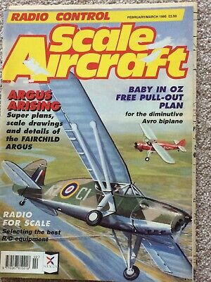 Rc Scale Aircraft Feb March  1995 Free Plan Avro 534 Baby 44In Wing