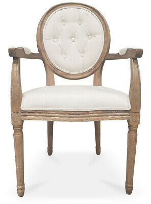 Modern Farmhouse Vintage Antique Solid Wood Dining Chairs With Arms