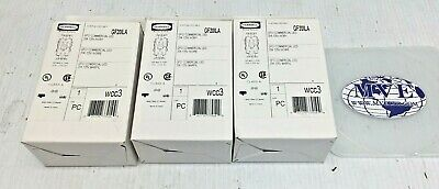 Lot 3 Hubbell Gf20Ila Gfci Commercial Led 20A 125V Ivory Receptacle Outlet