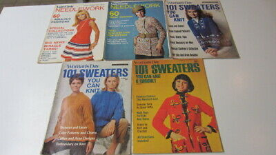 5) Vintage Fashions Crochet & Knit Magazines: Needlework & 101 Sweaters