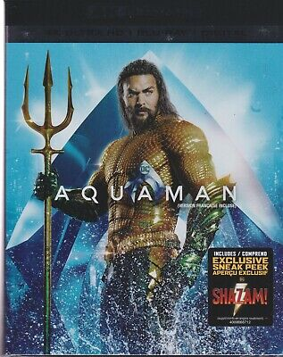 AQUAMAN 4K ULTRA HD & BLURAY & DIGITAL SET with Jason Momoa & Nicole Kidman