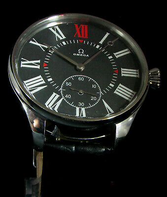 Omega Antique 1920's Large Steel Wristwatch Serviced Excellent Work
