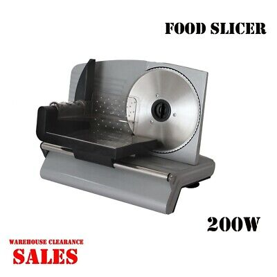 Premium Electric Meat Slicer Food Cheese Processor Vegetable Fruit 200W