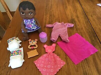Mattel Baby Alive Lil Sips Doll W/ Extra Accessories**African American