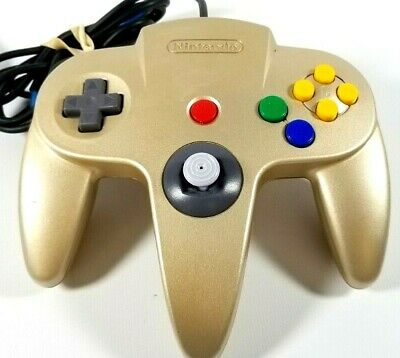Authentic Nintendo 64 N64 Gold Official Controller OEM Tight Stick Game Pad Rare