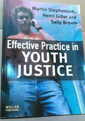 NEW Effective Practice in Youth Justice by Martin Stephenson, H. Giller, $70.45