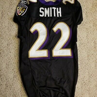 71686070 2011 BALTIMORE RAVENS Game Used Worn Jimmy Smith Jersey Colorado