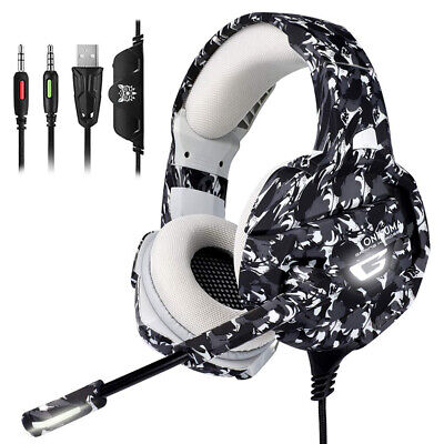 ONIKUMA K5 Stereo Gaming Headset for PS4 PC Xbox One Over Ear Headphones w/ Mic