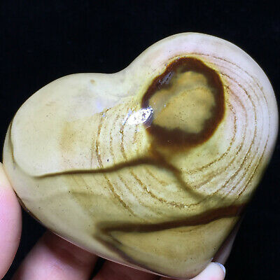 Top BEST NATURAL POLISHED POLYCHROME JASPER HEART From Madagascar 201g A7560