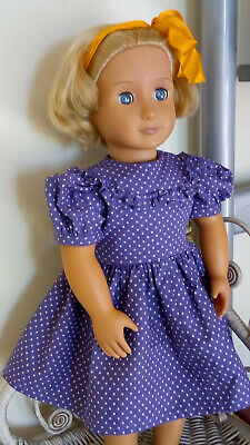 """40sVintage Style Polka Dot Dress ONLY American Girl Doll Our Generation Doll 18"""""""