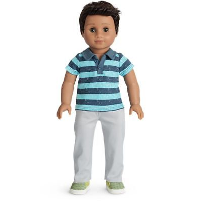 NEW AMERICAN GIRL DOLL 18' Boy Truly Me #76 + meet outfit 2018 Luciana friend