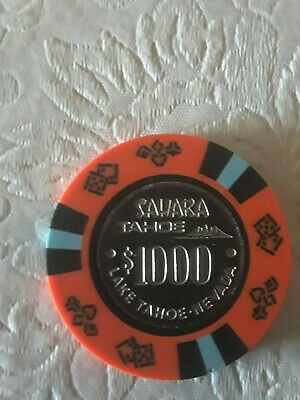 Sahara Lake Tahoe Nevada $1000 Casino Chip Rare Excellent Condition Cheapest One