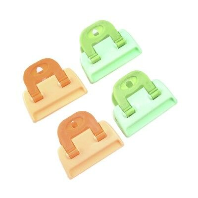 4x Kitchen Storage Food Snack Seal Sealing Bag Clip Sealer Clamp Plastic Tool