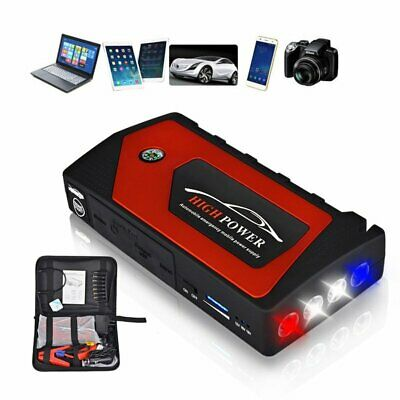 12V 69800mAh Car Jump Starter Portable USB Power Bank Battery Booster Clamp 600A