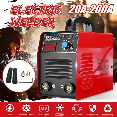 20-200A Welder Inverter MMA ARC Portable LCD ZX7-200G Welding Machine IGBT