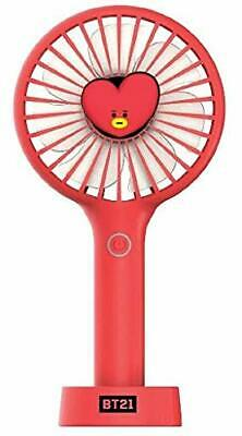 New Official BT21 2019 MINI HANDY FAN mini Red fan collabo Goods Jap From japan