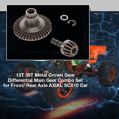 13T 38T Metal Crown Gear Differential Main Gear Combo Set for Front/ Rear Z4H9