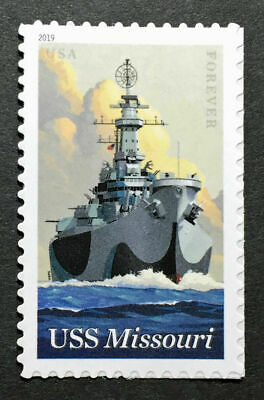 2019 USS MISSOURI 75th Anniversary USPS Forever®  1 STAMP FREE SHIPPING