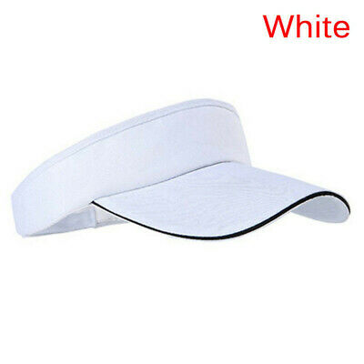 Adjustable Men Women Unisex Plain Sun Visor Golf Tennis Breathable Cap E7CX