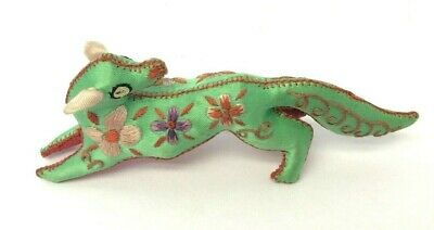 Vintage Used Embroidered Dragon Figure Sewn Asian Toy Chinese? China?