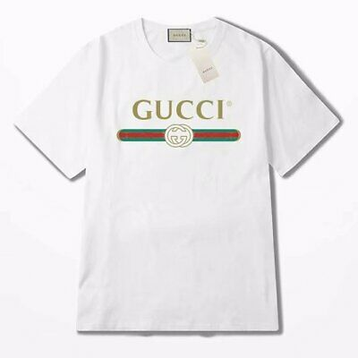 a55819aaf NEW GG men and women T-shirt White GUCCI Size;S--2XL