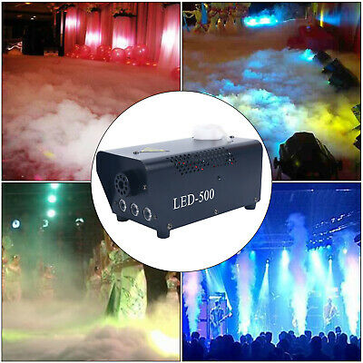 500W Wireless Remote Control Smoke Fog Machine with Colored LED Lights for Party