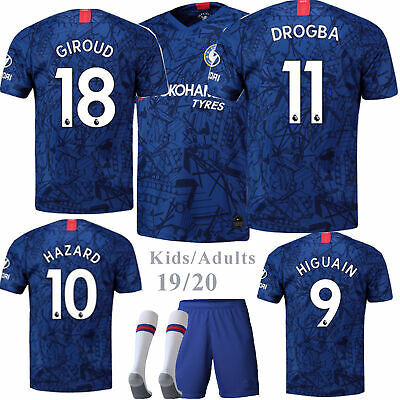 2020 New Kids/Adults Football Kits Soccer Suits Jersey Strip Shorts Socks Outfit