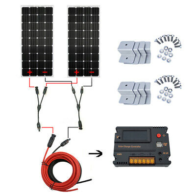 500W Solar Panel System:2PCS 250W Mono Solar Panel+20A Controller POWER CHARGER