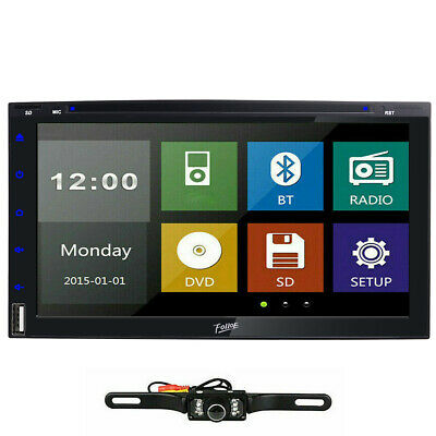 Sony lens Double 2 Din Car Stereo Radio DVD Player In Dash Bluetooth CD+CAMERA