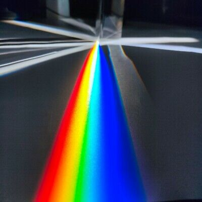 Optical Glass Equilateral Triple Triangular Triangle Prism Optics Experiment
