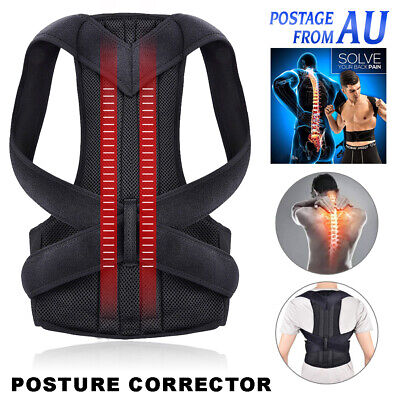 Posture Corrector Lumbar Lower Back Support Shoulder Brace for Men Women AU
