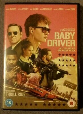 BABY DRIVER - DVD Kevin Spacey, Ansel Elgort, Jamie Foxx. Cert 15. Like new.