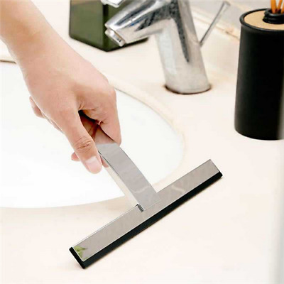 New Stainless steel Stainless Steel Shower Squeegee Glass Window Wiper Cleaner