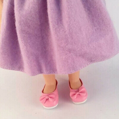 1 pair of Fancy Pink Bow 16 inch Dolls Shoes DIY Accessories Dress Up Baby Toys